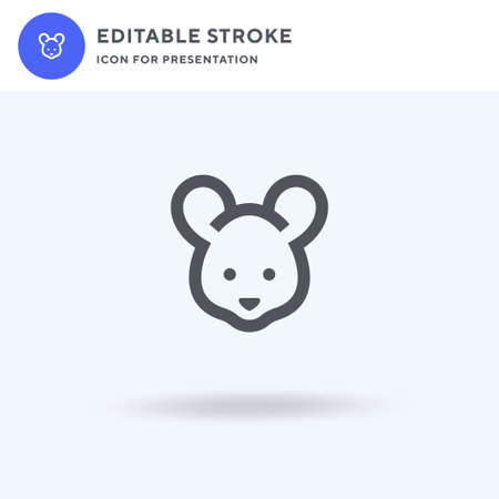 Mouse icon vector, filled flat sign, solid pictogram isolated on white, logo illustration. Mouse icon for presentation. Ilustração