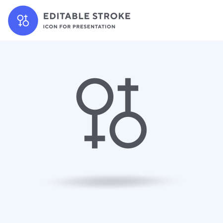 Lesbian icon vector, filled flat sign, solid pictogram isolated on white, logo illustration. Lesbian icon for presentation. Illustration