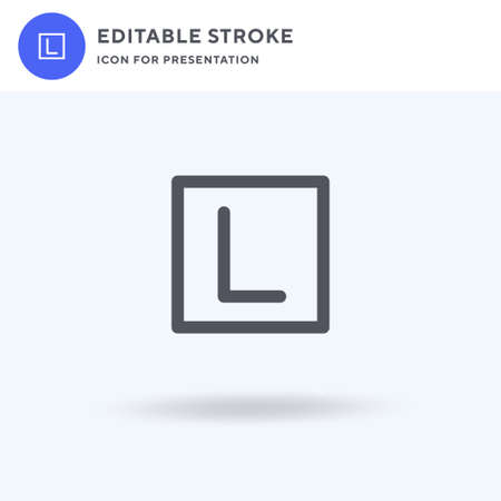 Learner icon vector, filled flat sign, solid pictogram isolated on white, logo illustration. Learner icon for presentation. Vectores