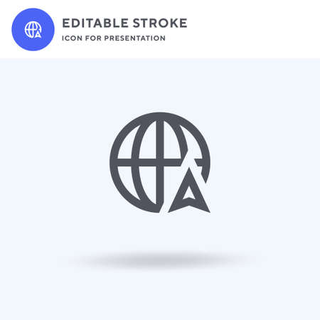 Internet icon vector, filled flat sign, solid pictogram isolated on white, logo illustration. Internet icon for presentation. Ilustração