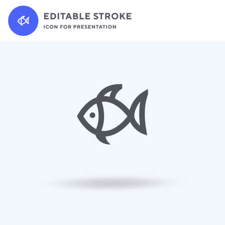 Fish icon vector, filled flat sign, solid pictogram isolated on white, logo illustration. Fish icon for presentation.