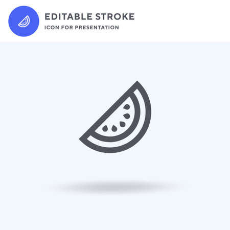 Watermelon icon vector, filled flat sign, solid pictogram isolated on white, logo illustration. Watermelon icon for presentation.
