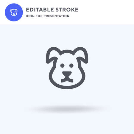 Dog icon vector, filled flat sign, solid pictogram isolated on white, logo illustration. Dog icon for presentation.
