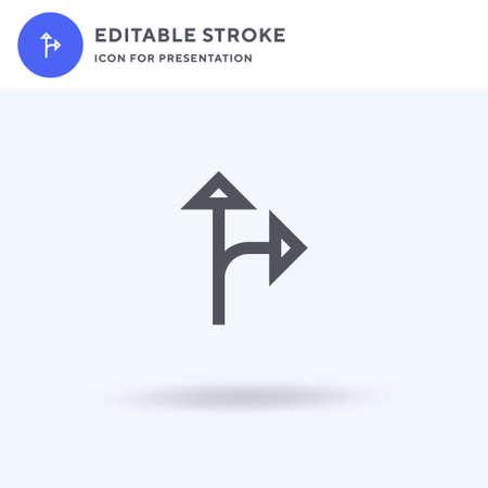 Split icon vector, filled flat sign, solid pictogram isolated on white, logo illustration. Split icon for presentation.