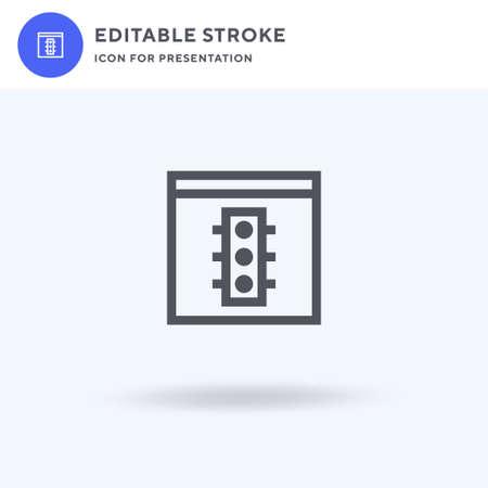 Status icon vector, filled flat sign, solid pictogram isolated on white, logo illustration. Status icon for presentation. Illusztráció