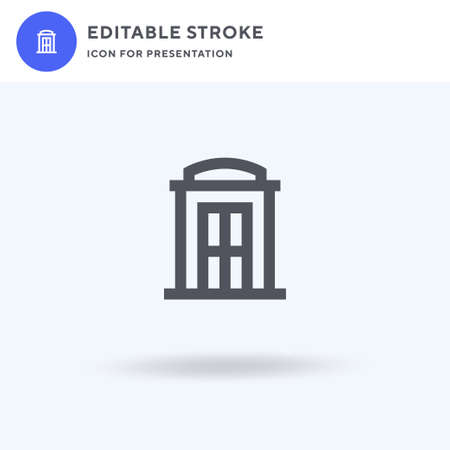 Phone Booth icon, filled flat sign, solid pictogram isolated on white, illustration. Phone Booth icon for presentation. Ilustracja