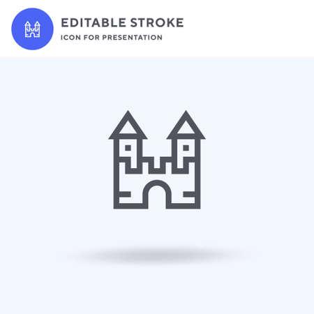 Castle icon, filled flat sign, solid pictogram isolated on white, illustration.  Castle icon for presentation. Illusztráció