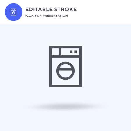 Washing Machine icon, filled flat sign, solid pictogram isolated on white, illustration. Washing Machine icon for presentation.