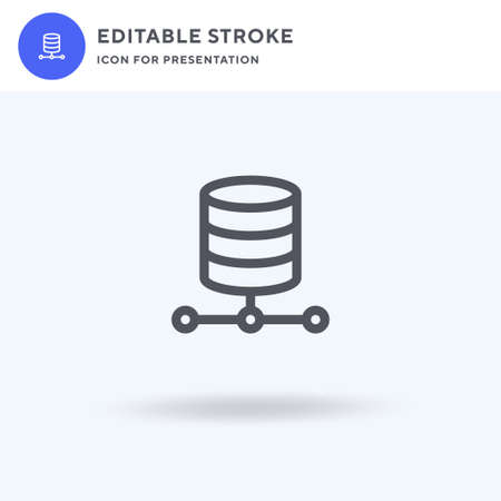 Data Storage icon vector, filled flat sign, solid pictogram isolated on white, logo illustration. Data Storage icon for presentation.