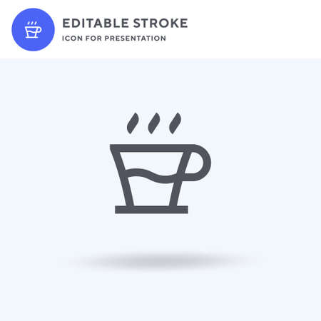 Coffee Cup icon vector, filled flat sign, solid pictogram isolated on white, logo illustration. Coffee Cup icon for presentation.