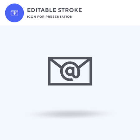 Email icon vector, filled flat sign, solid pictogram isolated on white, logo illustration. Email icon for presentation.
