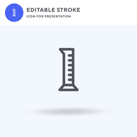 Test Tube icon vector, filled flat sign, solid pictogram isolated on white, logo illustration. Test Tube icon for presentation.
