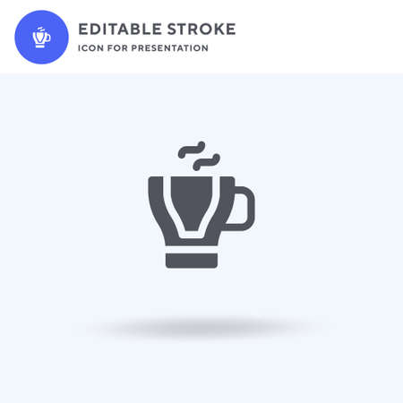 Espresso icon vector, filled flat sign, solid pictogram isolated on white, logo illustration. Espresso icon for presentation. Ilustrace