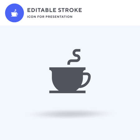 Coffee icon vector, filled flat sign, solid pictogram isolated on white, logo illustration. Coffee icon for presentation.