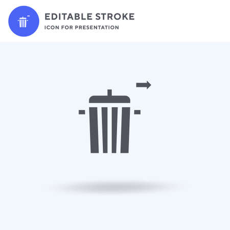 Rubbish icon vector, filled flat sign, solid pictogram isolated on white, logo illustration. Rubbish icon for presentation.
