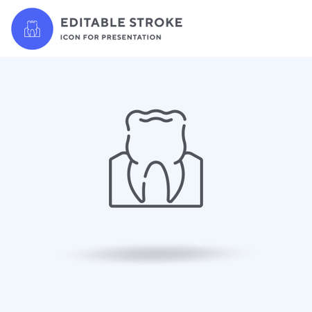 Molar icon vector, filled flat sign, solid pictogram isolated on white, logo illustration. Molar icon for presentation.