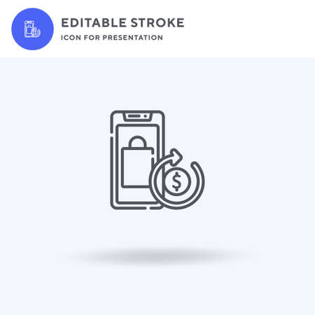 Cash Back icon vector, filled flat sign, solid pictogram isolated on white, logo illustration. Cash Back icon for presentation.