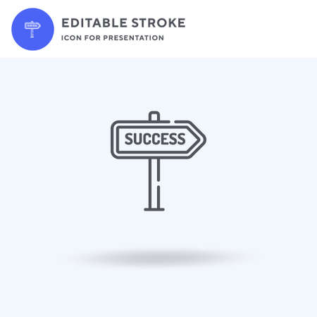 Success icon vector, filled flat sign, solid pictogram isolated on white, logo illustration. Success icon for presentation. Çizim
