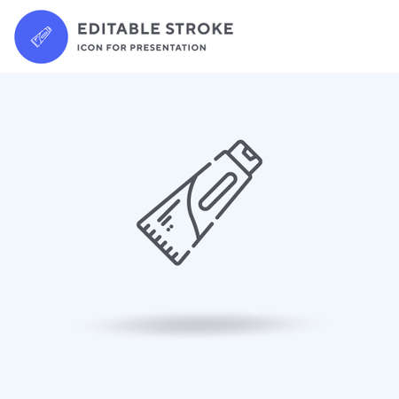 Toothpaste icon vector, filled flat sign, solid pictogram isolated on white, logo illustration. Toothpaste icon for presentation. Vettoriali