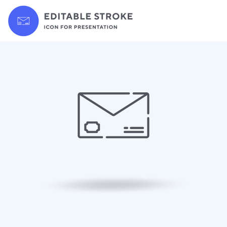 Mail icon vector, filled flat sign, solid pictogram isolated on white, logo illustration. Mail icon for presentation. Vectores