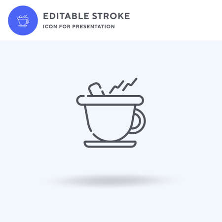 Hot Chocolate icon vector, filled flat sign, solid pictogram isolated on white,  illustration. Hot Chocolate icon for presentation.