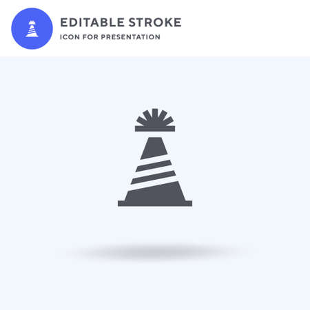 Party Hat icon vector, filled flat sign, solid pictogram isolated on white, logo illustration. Party Hat icon for presentation.