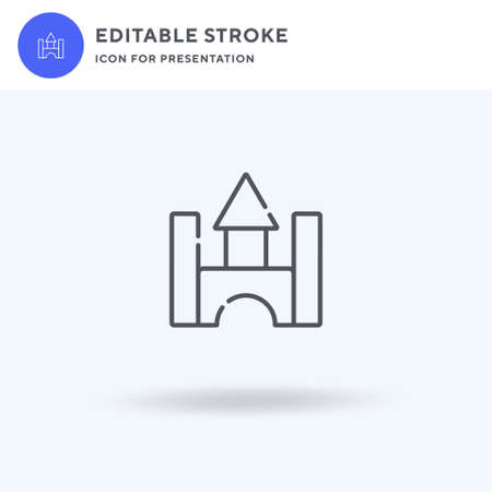 Castle icon vector, filled flat sign, solid pictogram isolated on white,  illustration. Castle icon for presentation.