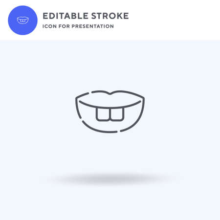 Teeth icon vector, filled flat sign, solid pictogram isolated on white,  illustration. Teeth icon for presentation.