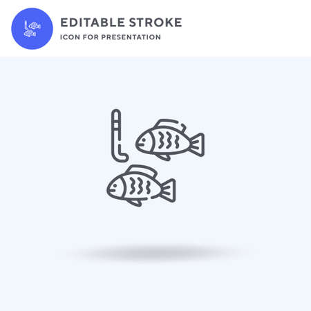 Fish icon vector, filled flat sign, solid pictogram isolated on white,  illustration. Fish icon for presentation.