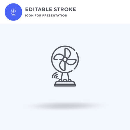 Fan icon vector, filled flat sign, solid pictogram isolated on white,  illustration. Fan icon for presentation.