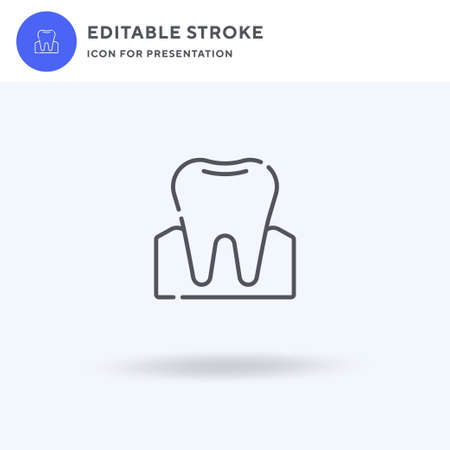 Molar icon vector, filled flat sign, solid pictogram isolated on white,  illustration. Molar icon for presentation. Vettoriali