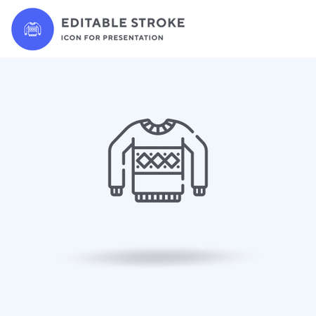 Sweater icon vector, filled flat sign, solid pictogram isolated on white,  illustration. Sweater icon for presentation. Иллюстрация