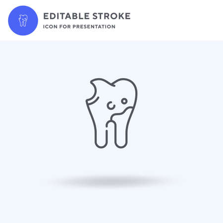 Caries icon vector, filled flat sign, solid pictogram isolated on white,  illustration. Caries icon for presentation.