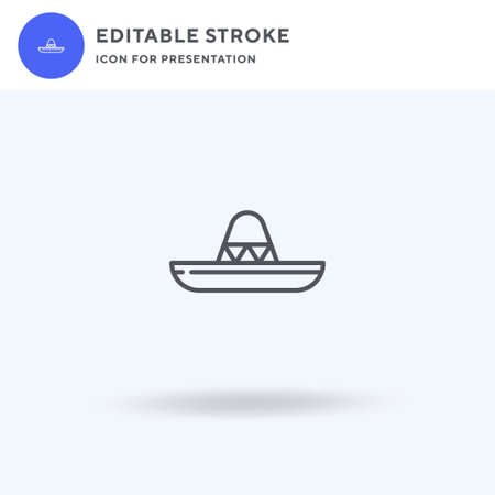 Mexican Hat icon vector, filled flat sign, solid pictogram isolated on white, logo illustration. Mexican Hat icon for presentation.