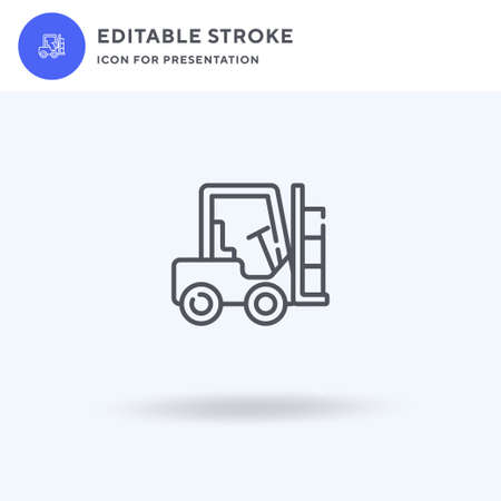 Forklift icon vector, filled flat sign, solid pictogram isolated on white,  illustration. Forklift icon for presentation.