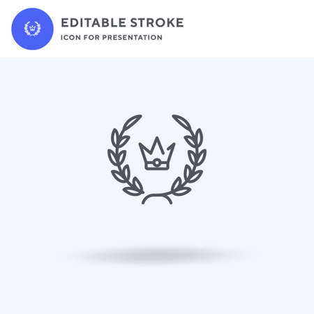 Laurel Wreath icon vector, filled flat sign, solid pictogram isolated on white,  illustration. Laurel Wreath icon for presentation.