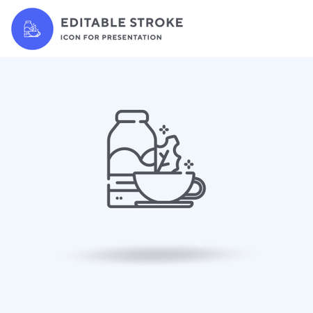 Breakfast icon vector, filled flat sign, solid pictogram isolated on white,  illustration. Breakfast icon for presentation.