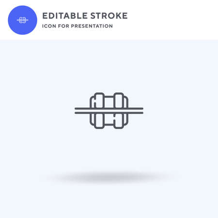 Braces icon vector, filled flat sign, solid pictogram isolated on white,  illustration. Braces icon for presentation.