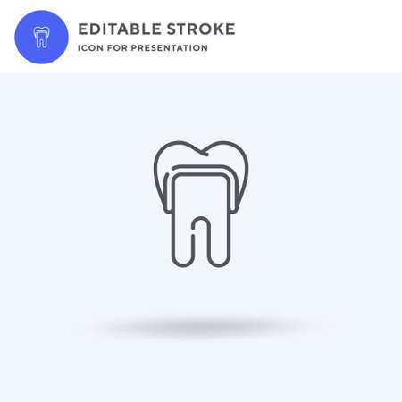 Dental Crown icon vector, filled flat sign, solid pictogram isolated on white,  illustration. Dental Crown icon for presentation.