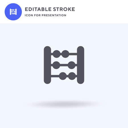 Abacus icon vector, filled flat sign, solid pictogram isolated on white,  illustration. Abacus icon for presentation. Illustration
