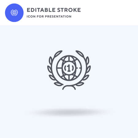 Wreath icon vector, filled flat sign, solid pictogram isolated on white,  illustration. Wreath icon for presentation. Illustration