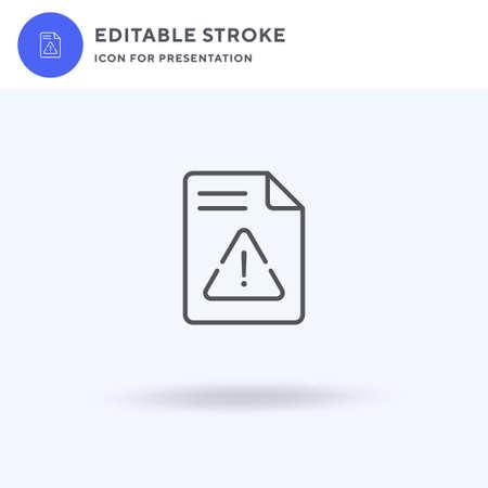Warning icon vector, filled flat sign, solid pictogram isolated on white,  illustration. Warning icon for presentation. Ilustração