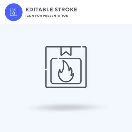 Flammable icon vector, filled flat sign, solid pictogram isolated on white,  illustration. Flammable icon for presentation.