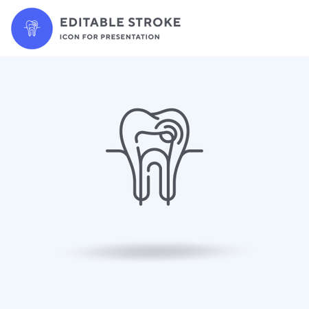 Tooth icon vector, filled flat sign, solid pictogram isolated on white,  illustration. Tooth icon for presentation.