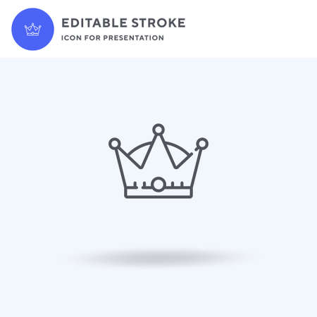 Crown icon vector, filled flat sign, solid pictogram isolated on white,  illustration. Crown icon for presentation.