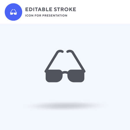 Eyeglasses icon vector, filled flat sign, solid pictogram isolated on white,  illustration. Eyeglasses icon for presentation. Illustration
