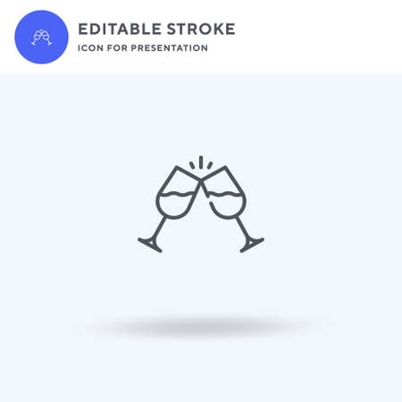 Glasses icon vector, filled flat sign, solid pictogram isolated on white,  illustration. Glasses icon for presentation.