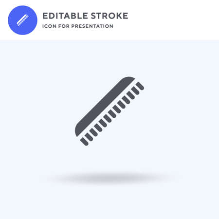 Comb icon vector, filled flat sign, solid pictogram isolated on white,  illustration. Comb icon for presentation. Illustration