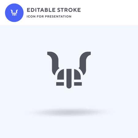 Viking Helmet icon vector, filled flat sign, solid pictogram isolated on white,   illustration. Viking Helmet icon for presentation. Illusztráció