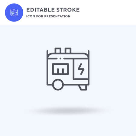 Electric Generator icon, filled flat sign, solid pictogram isolated on white, illustration. Electric Generator icon for presentation. Illusztráció